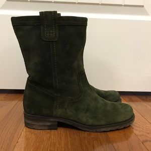 Naturalizer Suede green boots 7